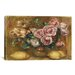 <strong>iCanvasArt</strong> 'Nature Morte: Bouquet De Roses Avec Citrons' by Pierre-Auguste Renoir Painting Print on Canvas