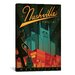 <strong>iCanvasArt</strong> 'Nashville, Tennessee' by Anderson Design Group Vintage Advertisement on Canvas