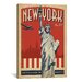 <strong>iCanvasArt</strong> 'New York City, New York' by Anderson Design Group Vintage Advertisement on Canvas