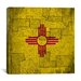 <strong>Flags New Mexico Vintage Square Map Graphic Art on Canvas</strong> by iCanvasArt