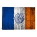 iCanvasArt Flags New York Wood Boards Painted Graphic Art on Canvas