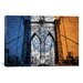 <strong>iCanvasArt</strong> Flags New York Brooklyn Bridge Graphic Art on Canvas