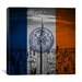 iCanvasArt Flags New York Empire State Building Graphic Art on Canvas