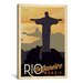<strong>Rio De Janeiro, Brazil Vintage Advertisement on Canvas</strong> by iCanvasArt