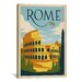 <strong>iCanvasArt</strong> 'Rome, Italy' by Anderson Design Group Vintage Advertisement on Canvas