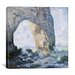 <strong>iCanvasArt</strong> 'Rock Arch West of Etretat (The Manneport)' by Claude Monet Painting Print on Canvas