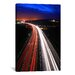 <strong>iCanvasArt</strong> Road Lights Photographic Print on Canvas