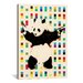 <strong>iCanvasArt</strong> Street Art Panda with Guns Dots Graphic Art on Canvas in Beige