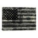 iCanvasArt One Hundred Dollar Bill, USA Flag Graphic Art on Canvas in Black/White