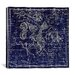 iCanvasArt Celestial Atlas - Plate 10 (Aquila and Antinous) by Alexander Jamieson Graphic Art on Canvas in Blue