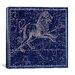 <strong>iCanvasArt</strong> Celestial Atlas - Plate 17 (Leo) by Alexander Jamieson Graphic Art on Canvas in Blue