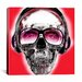<strong>Skull Sun Glasses by Luz Graphics Graphic Art on Canvas in Red</strong> by iCanvasArt