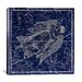 <strong>iCanvasArt</strong> Celestial Atlas - Plate 18 (Virgo) by Alexander Jamieson Graphic Art on Canvas in Blue