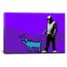 <strong>iCanvasArt</strong> Choose Your Weapon Keith Haring Dog ll Graphic Art on Canvas in Purple