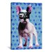 <strong>iCanvasArt</strong> Bulldog by Luz Graphics Graphic Art on Canvas in Blue