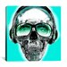 <strong>iCanvasArt</strong> Skull Sun Glasses by Luz Graphics Graphic Art on Canvas in Vert
