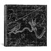 iCanvasArt Celestial Atlas - Plate 27 (Hydra) by Alexander Jamieson Graphic Art on Canvas in Black