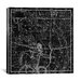 <strong>iCanvasArt</strong> Celestial Atlas - Plate 20 (Sagittarius) by Alexander Jamieson Graphic Art on Canvas in Black