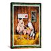 <strong>iCanvasArt</strong> Decorative Art 'Wine, Dine and Swine' by Charlsie Kelly Photographic Print on Canvas