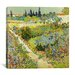 "<strong>iCanvasArt</strong> ""The Garden at Arles"" Canvas Wall Art by Vincent Van Gogh"