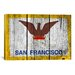 iCanvasArt Flags San Francisco Wood Planks with Grunge Graphic Art on Canvas