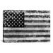<strong>Flags U.S.A. Grunge Graphic Art on Canvas in Gray/White</strong> by iCanvasArt