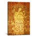 <strong>iCanvasArt</strong> Decorative Art Velvet Silk and Silver Lamella Fabric Islamic Painting Print on Canvas