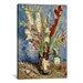 <strong>iCanvasArt</strong> 'Vase with Gladioli and China Asters, 1886 ll' by Vincent Van Gogh Painting Print on Canvas