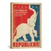 <strong>iCanvasArt</strong> 'Vote Republican' by Anderson Design Group Graphic Art on Canvas