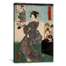 iCanvasArt Japanese Art 'Shirahige Myojin Shrine' by Kunisada (Toyokuni) Painting Print on Canvas