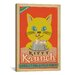 <strong>iCanvasArt</strong> 'VAF Kitty Krunch' by Anderson Design Group Vintage Advertisement on Canvas