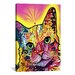<strong>iCanvasArt</strong> 'Tilt Cat' by Dean Russo Graphic Art on Canvas