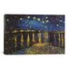 <strong>iCanvasArt</strong> 'Starry Night over the Rhone' by Vincent Van Gogh Painting Print on Canvas