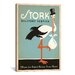 iCanvasArt Anderson Design Group Stork Delivery Service Canvas Wall Art