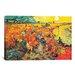 iCanvasArt 'The Red Vineyard At Arles' by Vincent Van Gogh Painting Print on Canvas