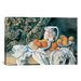 <strong>iCanvasArt</strong> 'Still Life with a Curtain 1895' by Paul Cezanne Painting Print on Canvas
