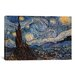<strong>iCanvasArt</strong> 'The Starry Night' by Vincent Van Gogh Painting Print on Canvas