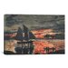 <strong>'Sunset Fires 1880' by Winslow Homer Painting Print on Canvas</strong> by iCanvasArt