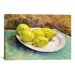 <strong>iCanvasArt</strong> 'Still Life with Lemons on a Plate' by Vincent Van Gogh Painting Print on Canvas