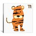 <strong>iCanvasArt</strong> Kids Art Tiger Graphic Canvas Wall Art