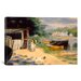 <strong>iCanvasArt</strong> 'View of Bougival 1873' by Pierre-Auguste Renoir Painting Print on Canvas