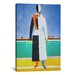 <strong>'Woman with a Rake' by Kazimir Malevich Painting Print on Canvas</strong> by iCanvasArt