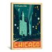 <strong>iCanvasArt</strong> 'The Magnificent Mile - Chicago, Illinois' by Anderson Design Group Vintage Advertisment on Canvas