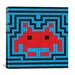 <strong>iCanvasArt</strong> Space Invaders Aura Tile (Red, Blue, and Black) Graphic Art on Canvas