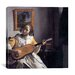 "<strong>iCanvasArt</strong> ""The Guitar Player"" Canvas Wall Art by Johannes Vermeer"