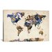 "<strong>iCanvasArt</strong> ""Urban Watercolor World Map V"" by Michael Thompsett Painting Print on Canvas"