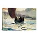 iCanvasArt 'Tynemouth, Returning Fishing Boats 1883' by Winslow Homer Painting Print on Canvas