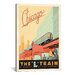 <strong>iCanvasArt</strong> 'The L Train - Chicago, Illinois' by Anderson Design Group Vintage Advertisment on Canvas