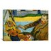 iCanvasArt 'Vincent Van Gogh Painting Sun Flowers' by Paul Gauguin Painting Print on Canvas