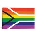 <strong>South African Lgbt Pride Rainbow Flag Graphic Art on Canvas</strong> by iCanvasArt